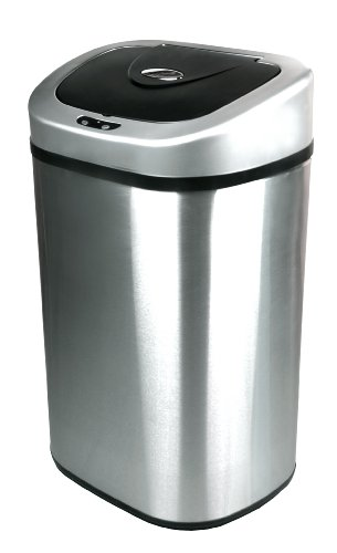 Nine Stars DZT-80-4 Infrared Touchless Stainless Steel Trash Can, 21.1-Gallon