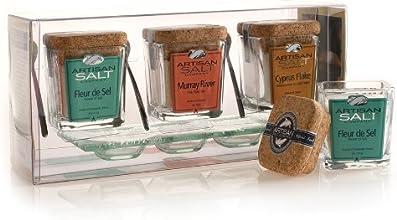 Artisan Salt Co - Trio - Finishing Sea Salt Collection - Cork Jar