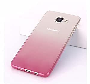 FONOVO Gradient Flexible Soft Gel Tpu Silicone Skin Slim Back Case Cover for Samsung Galaxy S6 EDGE PLUS (PINK)