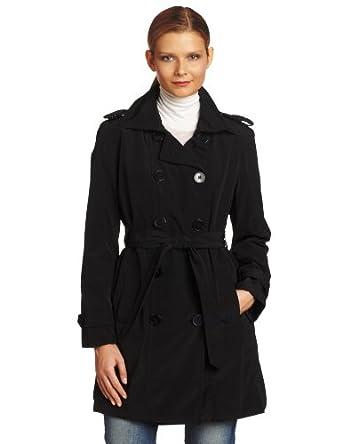 (2.1折)伦敦雾双排扣女士风衣,$42.37,黑、卡其两色