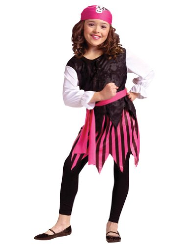 Kids-Costume Caribbean Pirate Girl Child Costume 4-6 Halloween Costume