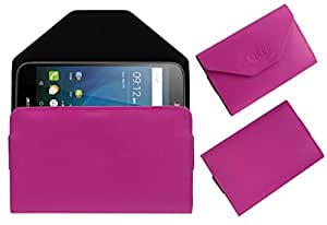 Acm Premium Pouch Case For Acer Liquid Z630s Flip Flap Cover Holder Pink