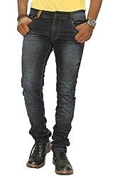 Jugend Grey Washed stretchable Slim Fit Jeans for men