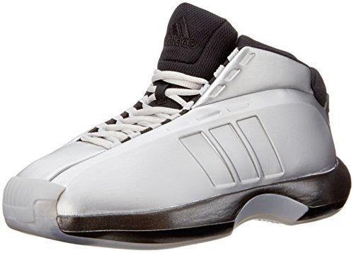 Adidas Crazy 1 Uomo US 9.5 Argento Scarpa ginnastica