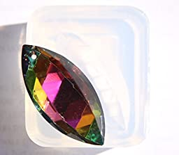 Clear silicone crystal pendants,earrings Molds, pendant size 47mmX22mm. Handmade item.(2-90)