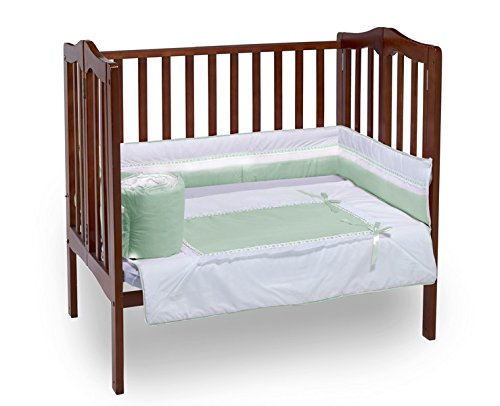 Baby Doll Royal Port-a-Crib Bedding Set, Mint