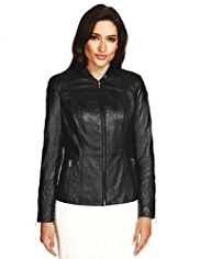 Per Una Speziale Leather Biker Jacket