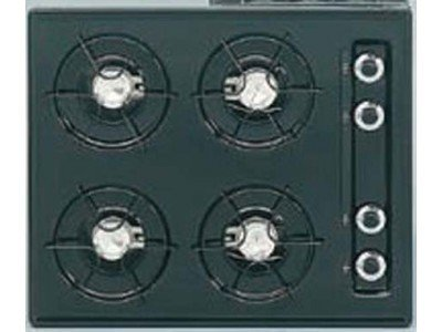 SUMMIT TTL03 is a 24 inch wide gas cooktop with pilot light ignition in black. Made in USA