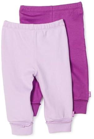 Disney Baby-Girls Newborn 2 Pack Pull-On Pant, Purple/Lilac, 0-3 Months
