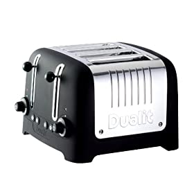 "Dualit Lite Traditional Design 46245 ""CHUNKY"" Toaster in Black Soft Touch Finish"
