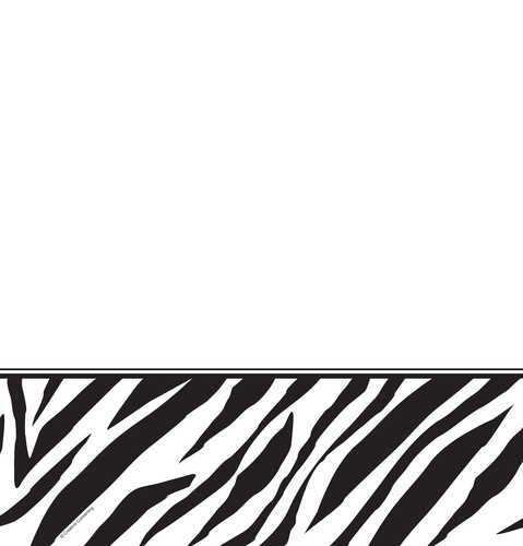 Creative Converting Animal Print Zebra Plastic Table Cover, Rectangle 54 x 108""