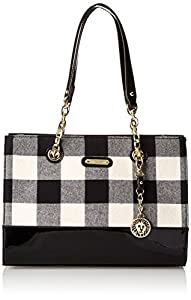 Anne Klein Coast Is Clear 60339148 Shoulder Bag,Black/White,One Size