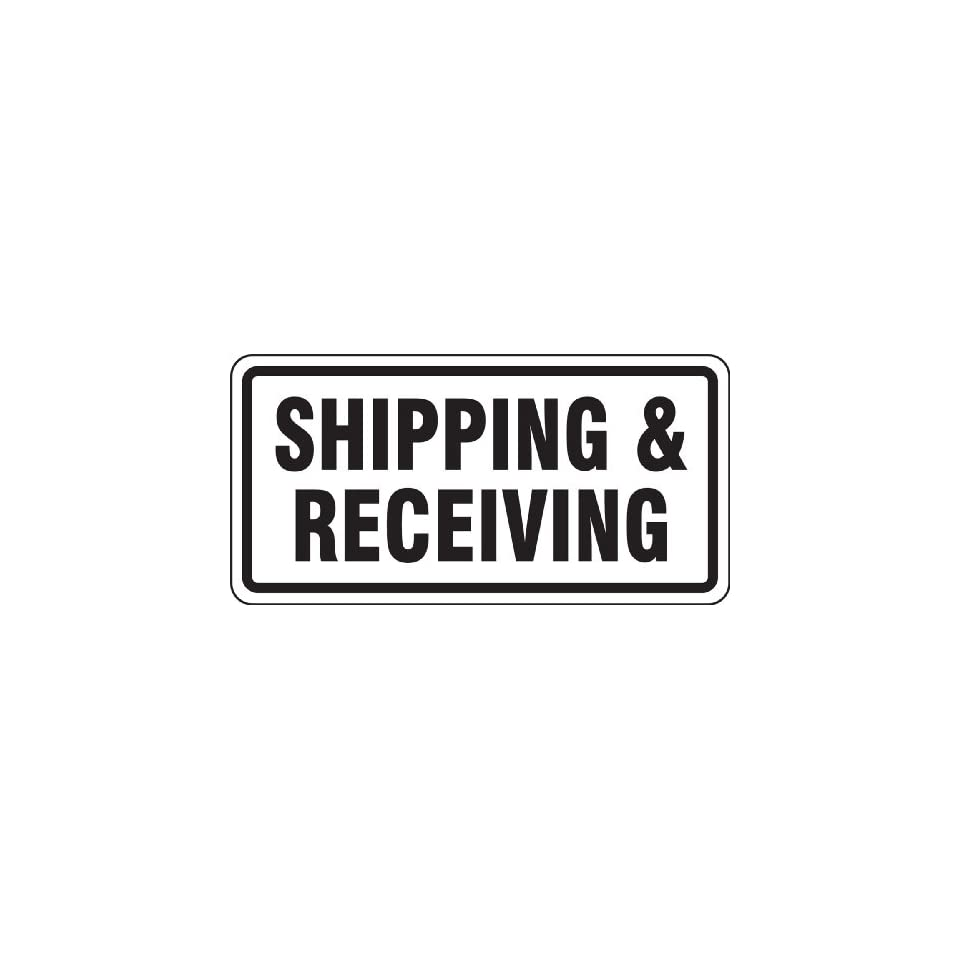 Accuform Signs FRR266RA Engineer Grade Reflective Aluminum Facility Traffic Sign, Legend SHIPPING & RECEIVING, 12 Length x 24 Width x 0.080 Thickness, Black on White