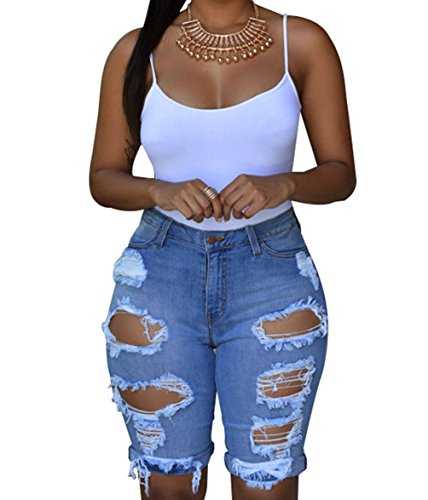 F&Q Real -  Pantaloncini  - Donna blu M