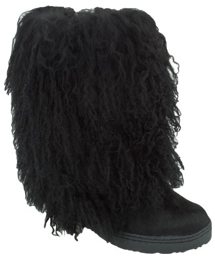 BEARPAW Women's Boetis II Mid-Calf Boot,Black,9 M US