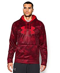 Under Armour Men\'s Armour Fleece Big Logo Pattern Hoodie, X-Large, Red/Red/Red