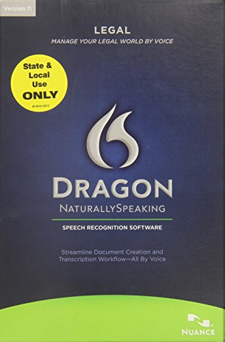 Dragon Naturallyspeaking Legal 11.0 State/Local English
