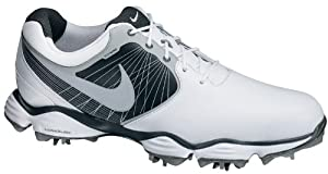 Nike Lunar Control Golf Shoes 552073-101 White/Silver 2014 Mens Size 10 Wide