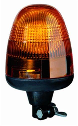Hella 006846001 Kl Rotaflex Series 55 Watt 12-36 Heavy Duty Amber H1 Type Halogen Rotating Beacon With Flexible Pole Mount