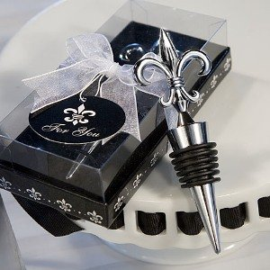 Fleur De Lis Design Wine Bottle Stopper Wedding Favors, 1
