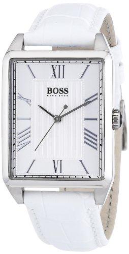 Hugo Boss 1502256 - Reloj analógico de cuarzo para mujer con correa de piel, color blanco