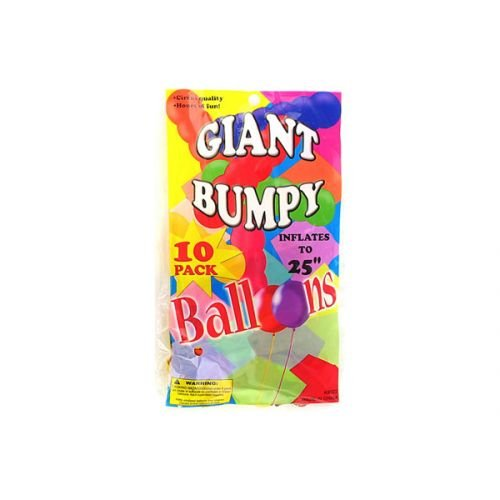 Giant bumpy balloons (10 pack) - 1