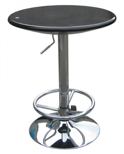 "Luna Pub Table (Black) (36""H x 24""W x 24""D)"