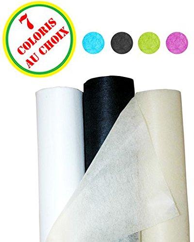 Surnappe non tissée ivoire (120cm x 10 m) couleur : anis