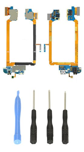 Flex Cable Docking Connector Charger Port Headphone Jack Mic Sprint For Lg G2 Ls980