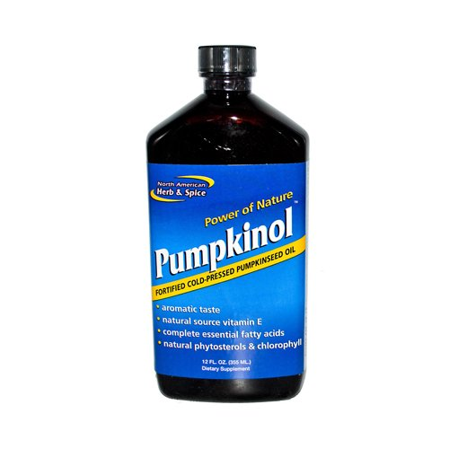 North American Herb and Spice Pumpkinol Fortified Cold Pressed Pumpkin Oil - 12 fl oz