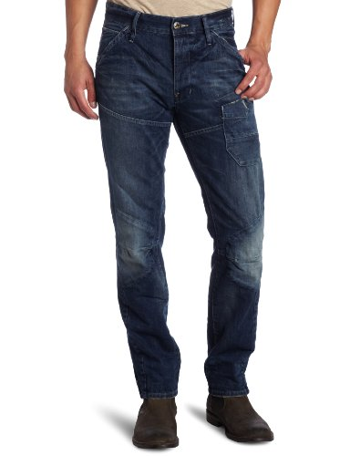 G Star Skiff 5620 3D Tapered Men's Jeans Medium Aged W28INxL32IN
