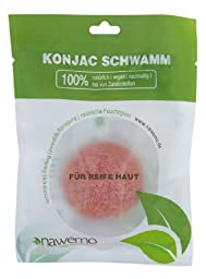 Nawemo French pink clay konjac sponge for mature and tired skin