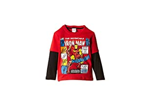 MARVEL Camiseta Manga Larga Invincible (Rojo / Negro)
