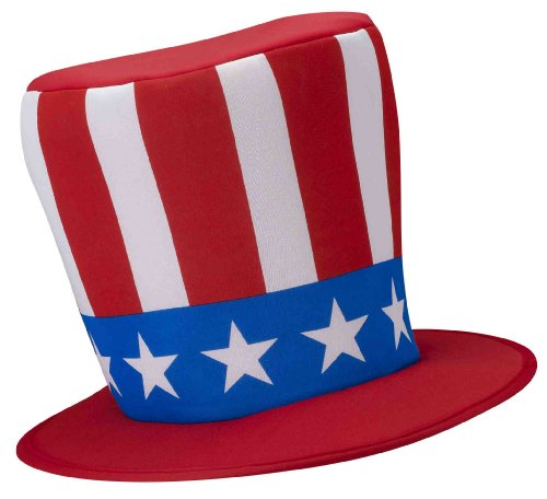 Uncle Sam Costume Top Hat Adult