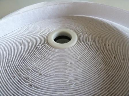 White Loop Tape (one roll)velcro, Self Adhesive 25m x 20mm