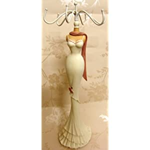 Tall slim mannequin jewellery stand