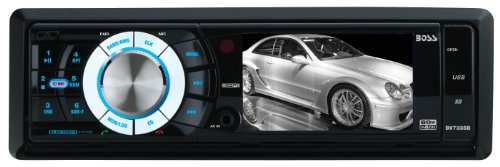 BOSS Audio BV7335B In-Dash Single-Din 3.2-inch Detachable Screen DVD/CD/USB/SD/MP4/MP3 Player Receiver Bluetooth Streaming Bluetooth Hands-free with Remote