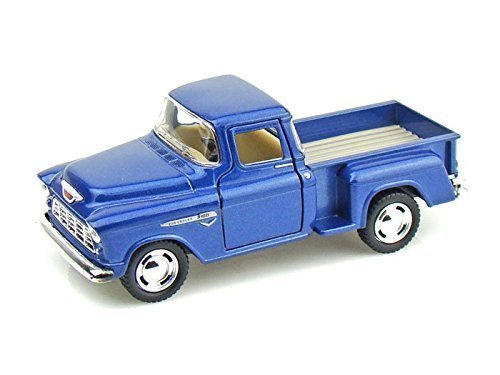 KiNsMART 1955 Chevy Stepside Pick Up, Blue