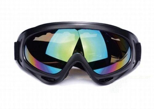 Military X400 tactical goggles black frame rainbow color lens