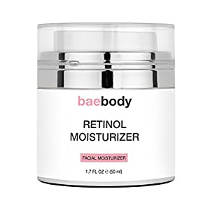 Baebody Retinol Moisturizer Cream: Helps Reduce Appearance of Wrinkles, Fine Lines. Enhanced Organic Ingredients with Retinol, Green Tea, Hyaluronic Acid, and Jojoba Oil 1.7oz.