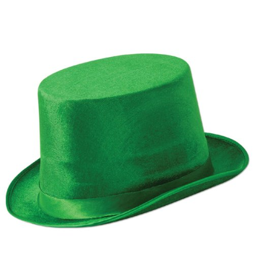 Green Vel-Felt Top Hat - 1