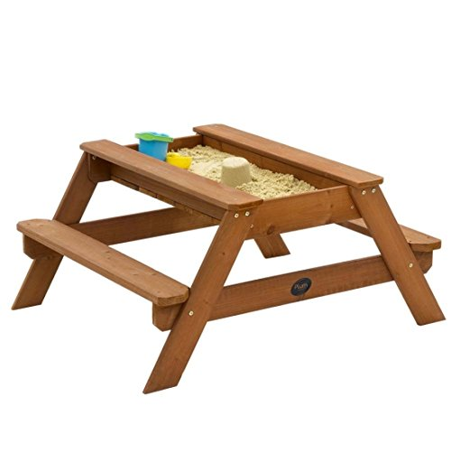 Plum Outdoor Play Wooden Sand and Picnic Table