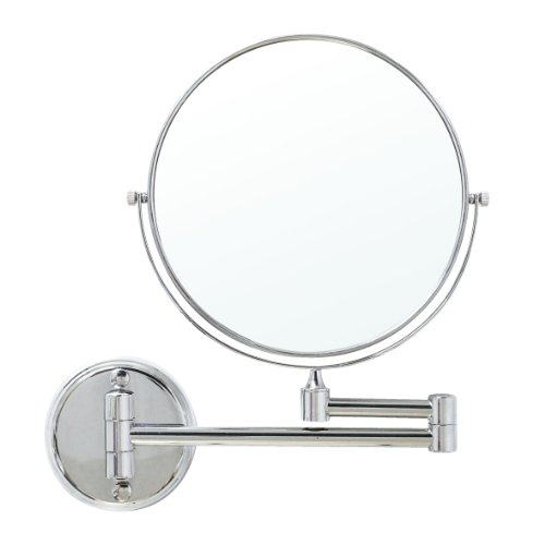 Modona Mr01-A 8-Inch Two-Sided 1X And 5X Wall-Mounted Mirror, Made Of Brass Polished Chrome front-700417