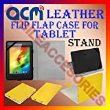 LEATHER FLAP CASE YELLOW For SAMSUNG GALAXY TAB 2 P3100 TABLET FLIP COVER