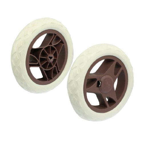 Fan Shape Core Stroller Shopping Trolley Cartwheels Brown White 2 Pcs