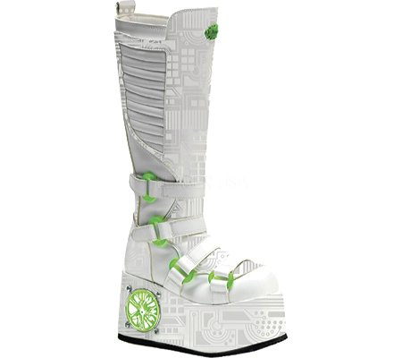 Pleaser Men's Techno-856UV-W Boot,White Polyurethane,12