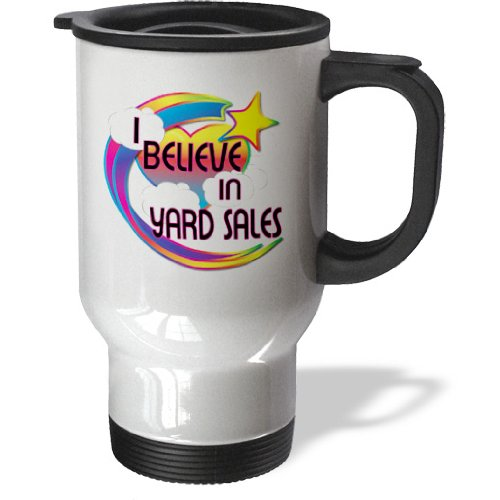Tm_167029_1 Dooni Designs - Believe In Dreamy Belief Designs - I Believe In Yard Sales Cute Believer Design - Travel Mug - 14Oz Stainless Steel Travel Mug