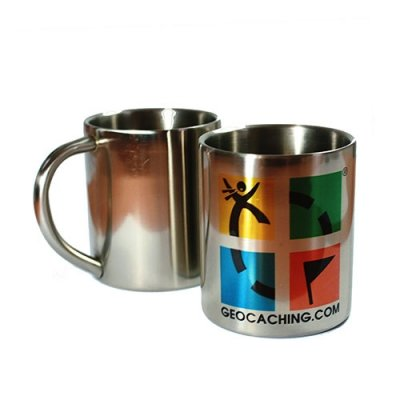 Geocaching Thermo Outdoor Tasse Edelstahl
