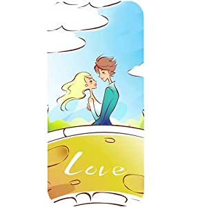 Casotec Couple Sketch Design Hard Back Case Cover for Apple iPhone 5 / 5S