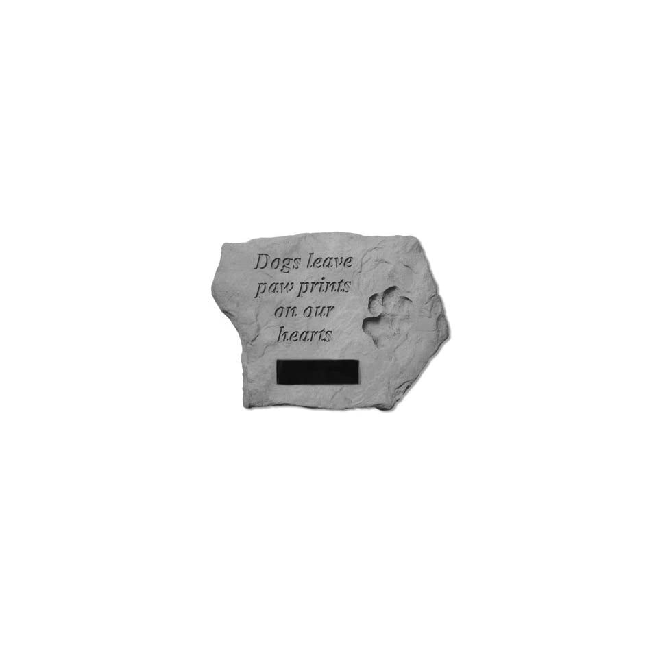 Paw Prints on Our Hearts Pet Memorial Stone